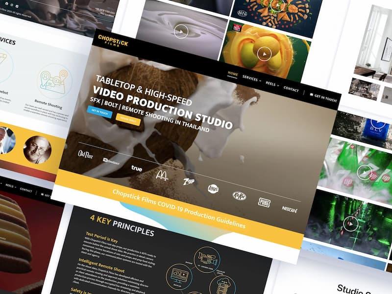 Chopstick Films Web Design Styles and Mockups